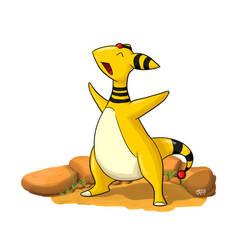 Ampharos - Pokemon Fanart by TheKevMeister