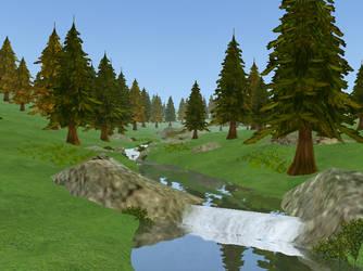 Simple Mountain - Screenie by JaceLaughingWolf