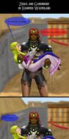 Loz OOT-Zelda and Ganondorf in Haunted Wasteland