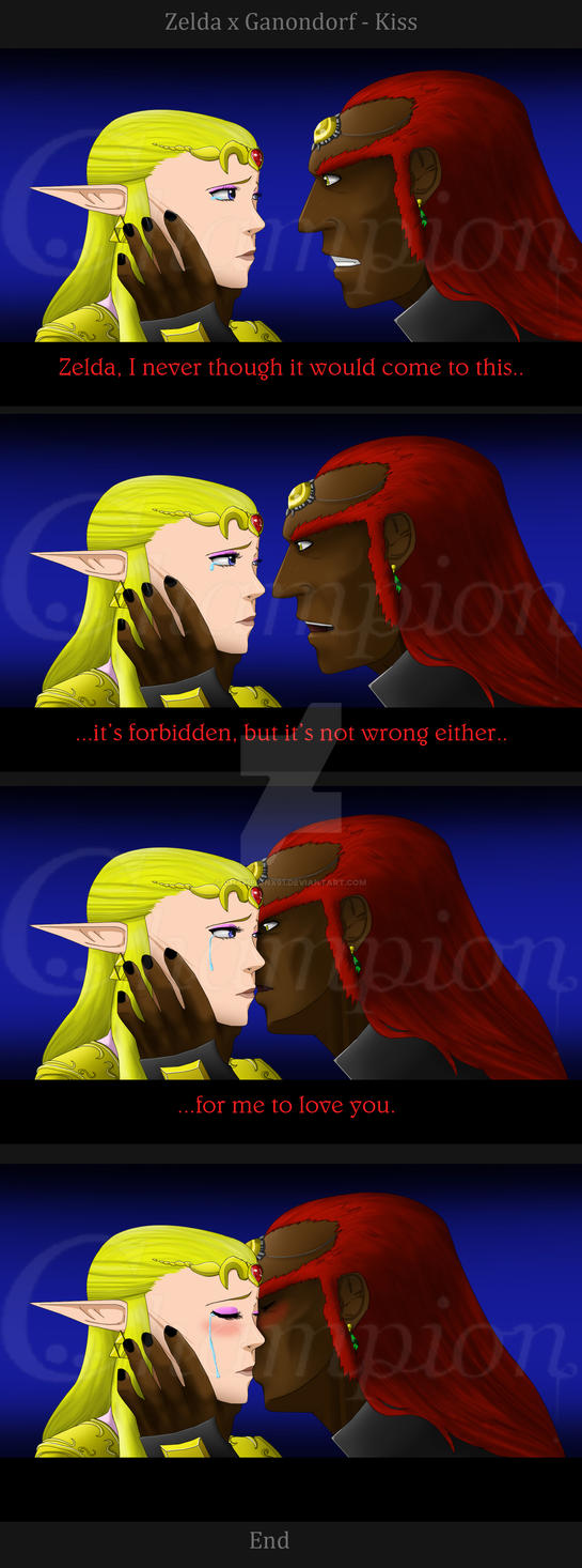 ZeldaxGanondorf-kiss comic version by Championx91
