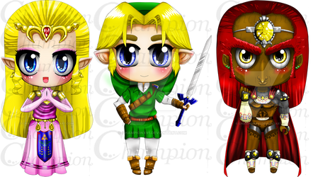 Loz oot chibi - all by Championx91
