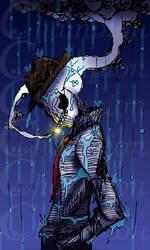 Skeleton - Smoking in the rain