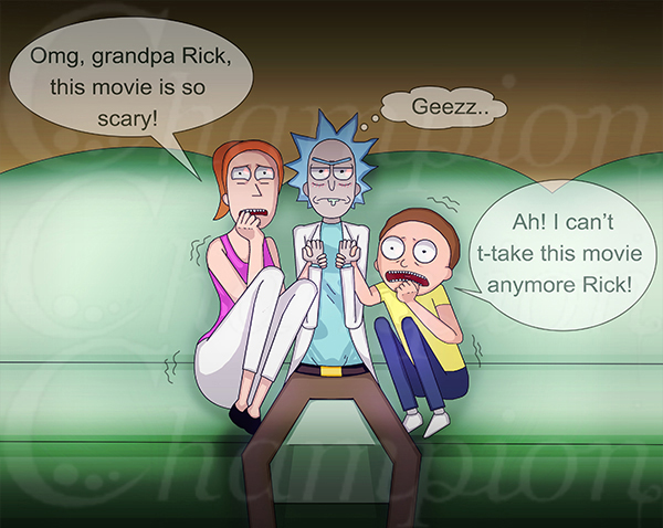 Rick and Morty -  Scary Movie Night
