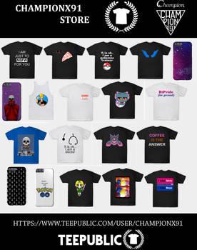 Championx91 Store 2016 Teepublic