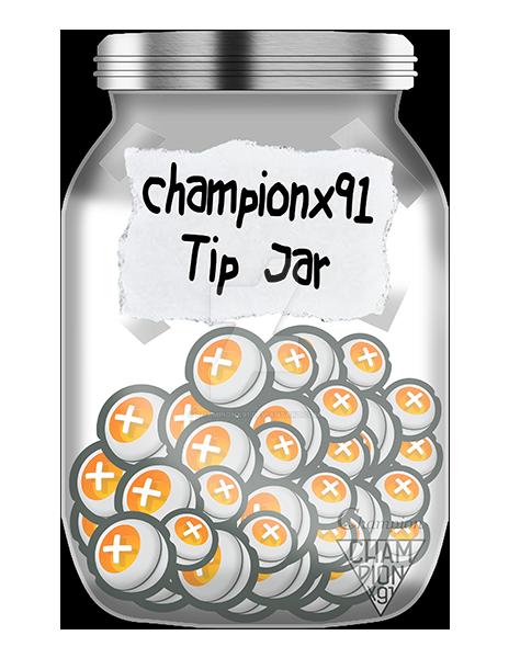 championx91 Tip Jar by Championx91