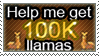 help me get 100k llamas stamp by Championx91