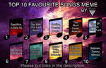 Top 10 Favourite Songs Meme by Championx91