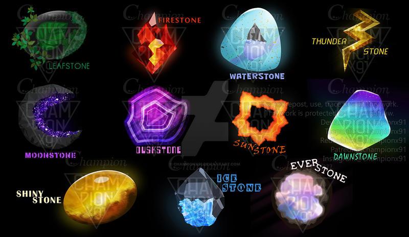 Pokemon Evolution Stones Reimagine