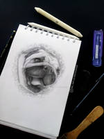 Pug Portrait 01 by MariceMedinaArt
