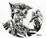 Catwoman matita by StefanoLanza