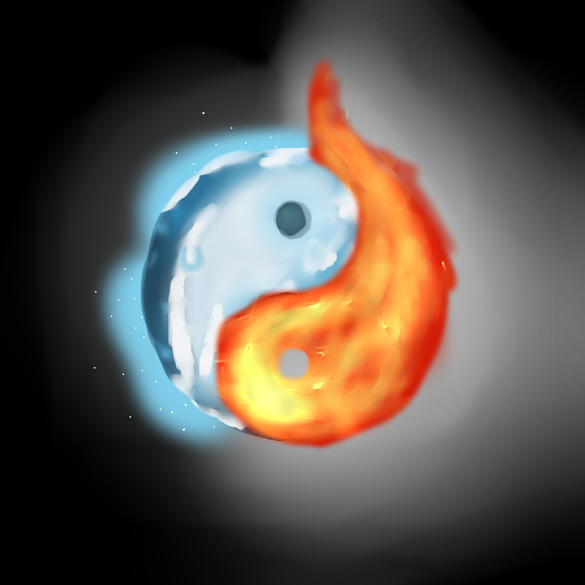 Yin Yang Fire And Ice Wwwimagessurecom