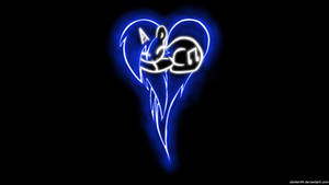Vinyl Scratch / DJ Pon-3 Pony Heart Glow Wallpaper
