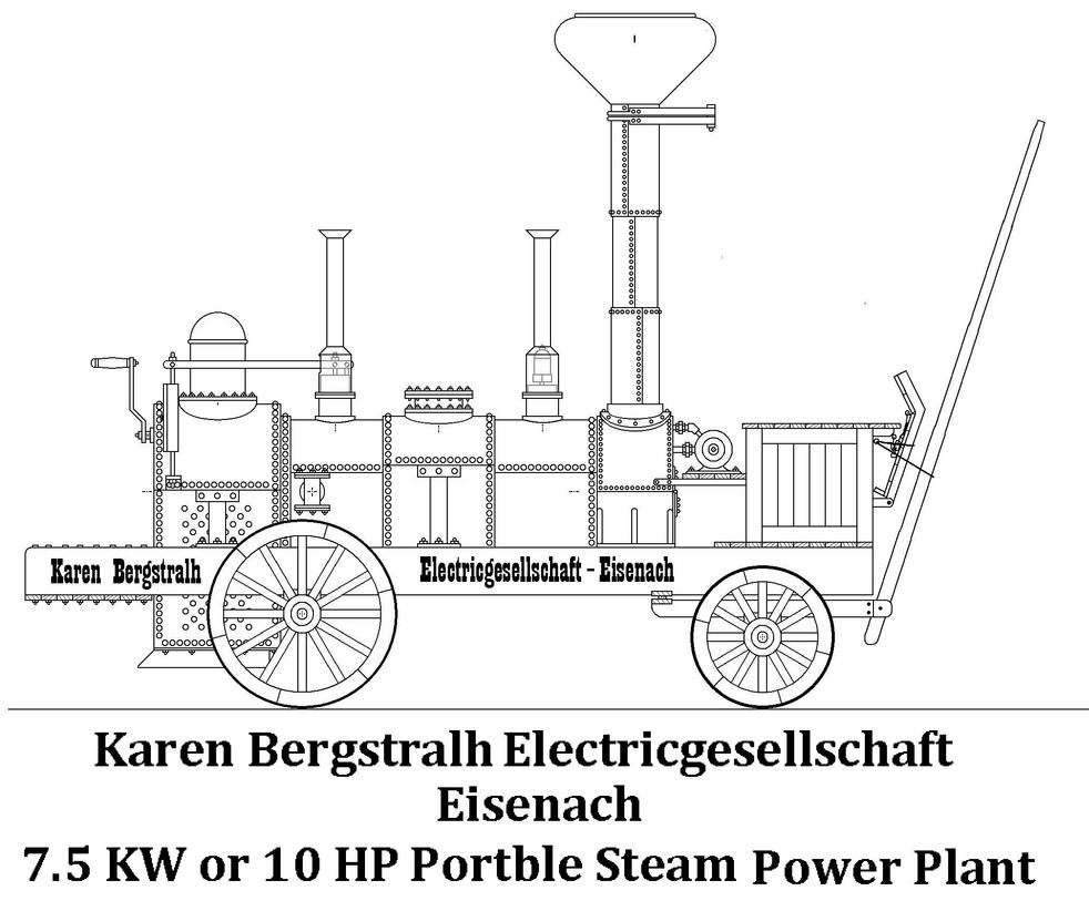 portble steam electric power plant wagon by pokermind on