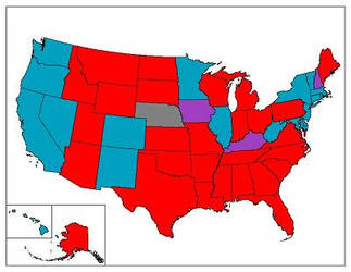 Current Politicl Map of USA