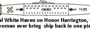 Can't That Woman ever bring  ship back in one piec