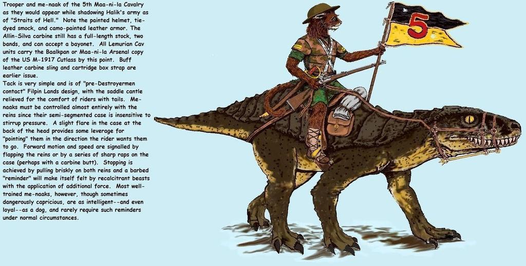 Fifth Maa-ni-la Cavalry Trooper by Taylor Anderson