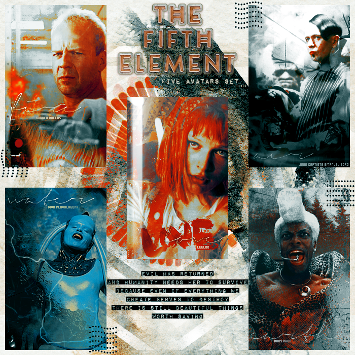 Avatars set - The Fifth Element by RikkutheThief