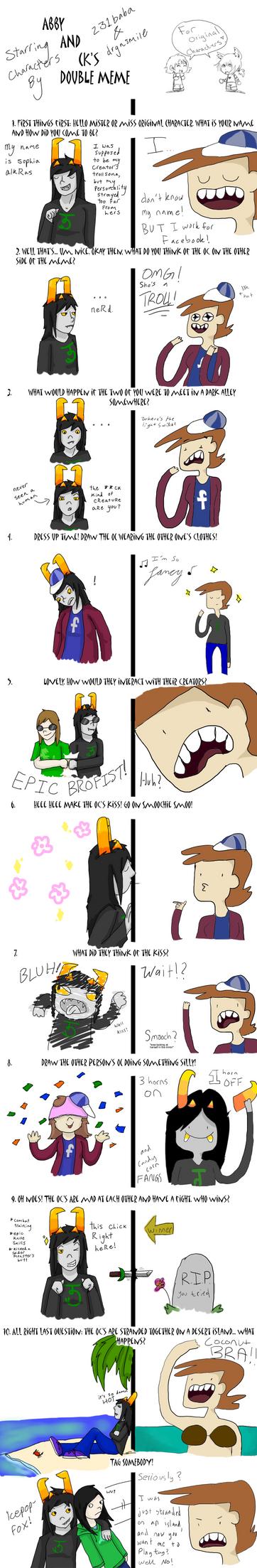 Double OC Meme by 231baba