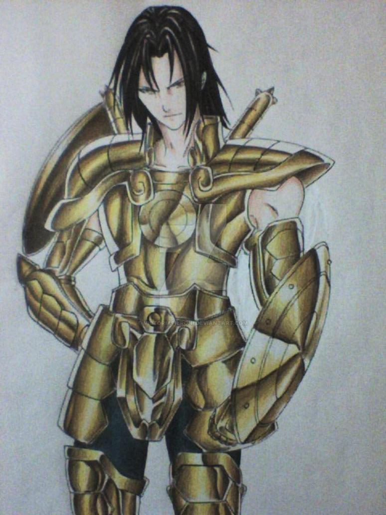 Libra Gold Saint by victoriapieroni