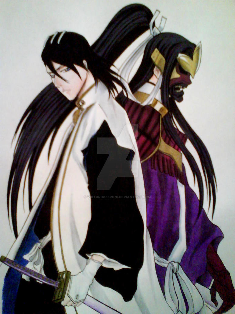 byakuya kuchiki and senbonzakura ii by victoriapieroni on deviantart