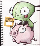 gir and pig.