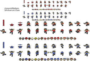 Scout Man Sprites and Hats by AgentMidnight