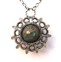labradorite silver necklace by annie-jewelry