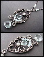 silver aqua necklace by annie-jewelry