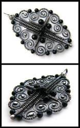 silver onyx pendant