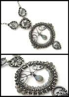 labradorite silver wire neckla by annie-jewelry
