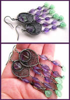 green and violet again by annie-jewelry
