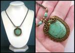 vintaj turquoise necklace