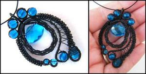 black and blue pendant