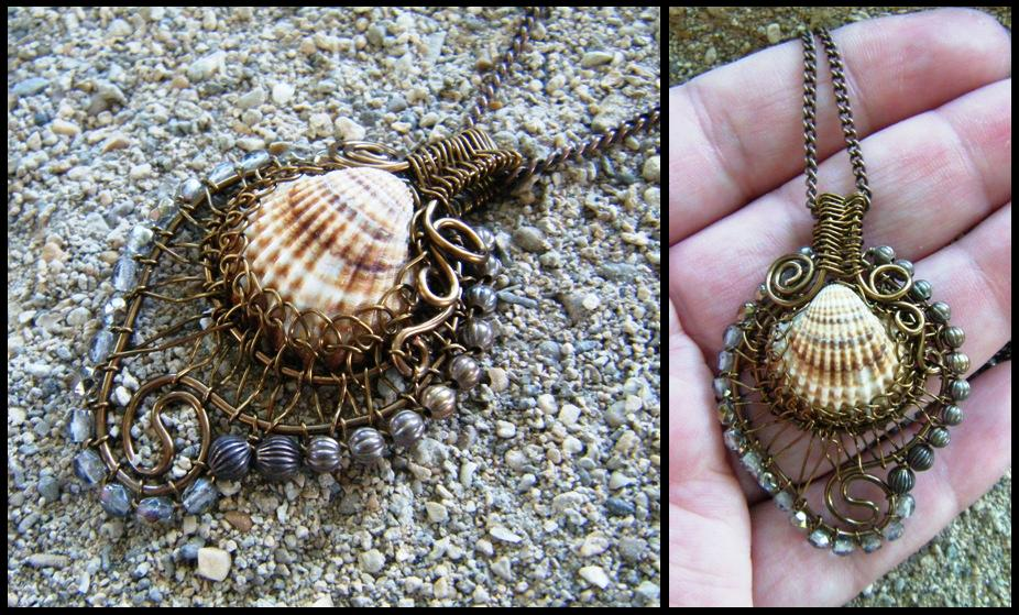 beach shell necklace by annie-jewelry