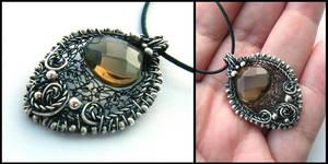 smokey quartz heart by annie-jewelry