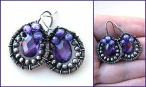 silver and purple cz