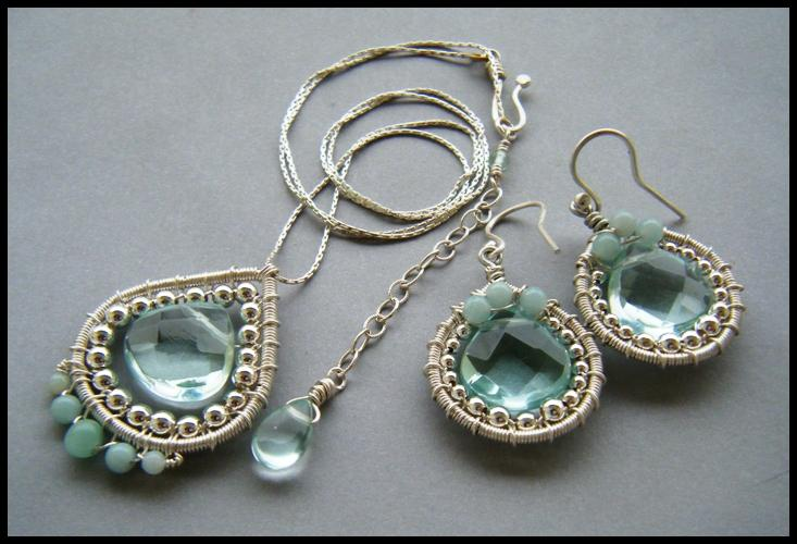 aqua quartz set by annie-jewelry