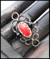 red and black ring by annie-jewelry