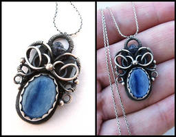 kyanite necklace by annie-jewelry