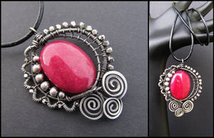 pink jade necklace by annie-jewelry