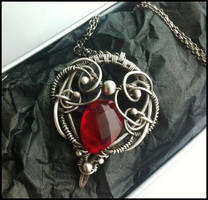 red quartz necklace by annie-jewelry