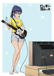 Rocking girls - Guitar heroine