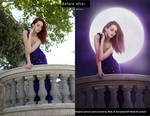 Moonlight before and after