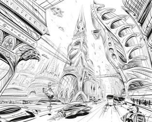 Futuristic city concept by ChilledPod