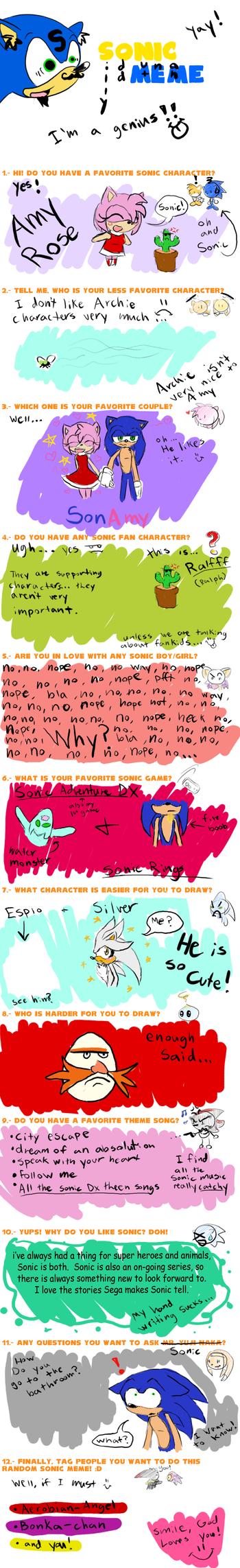Sonic MEME by GodsSonicGirl