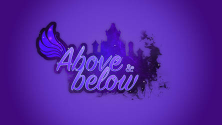 Above and below logo