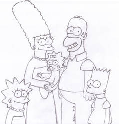 simpsons sketch by HomeLessMcSwifty