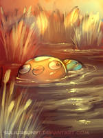 Stunfisk amidst the reeds and wallows by sulfurbunny