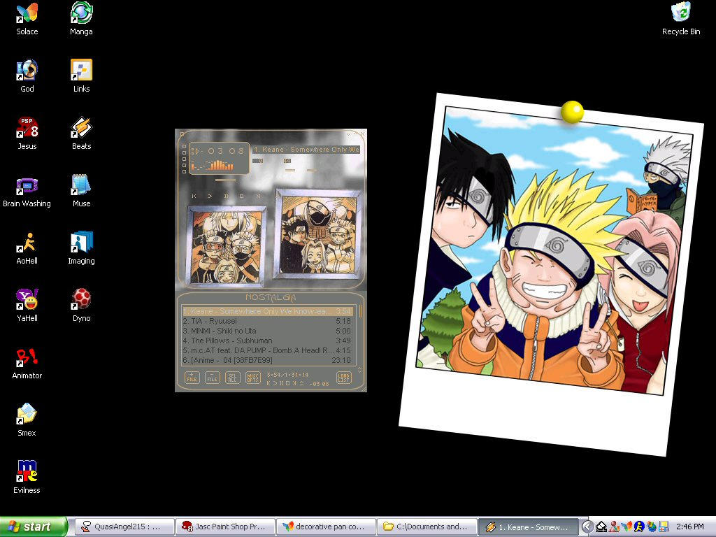 Naruto and the Gang by Riomi