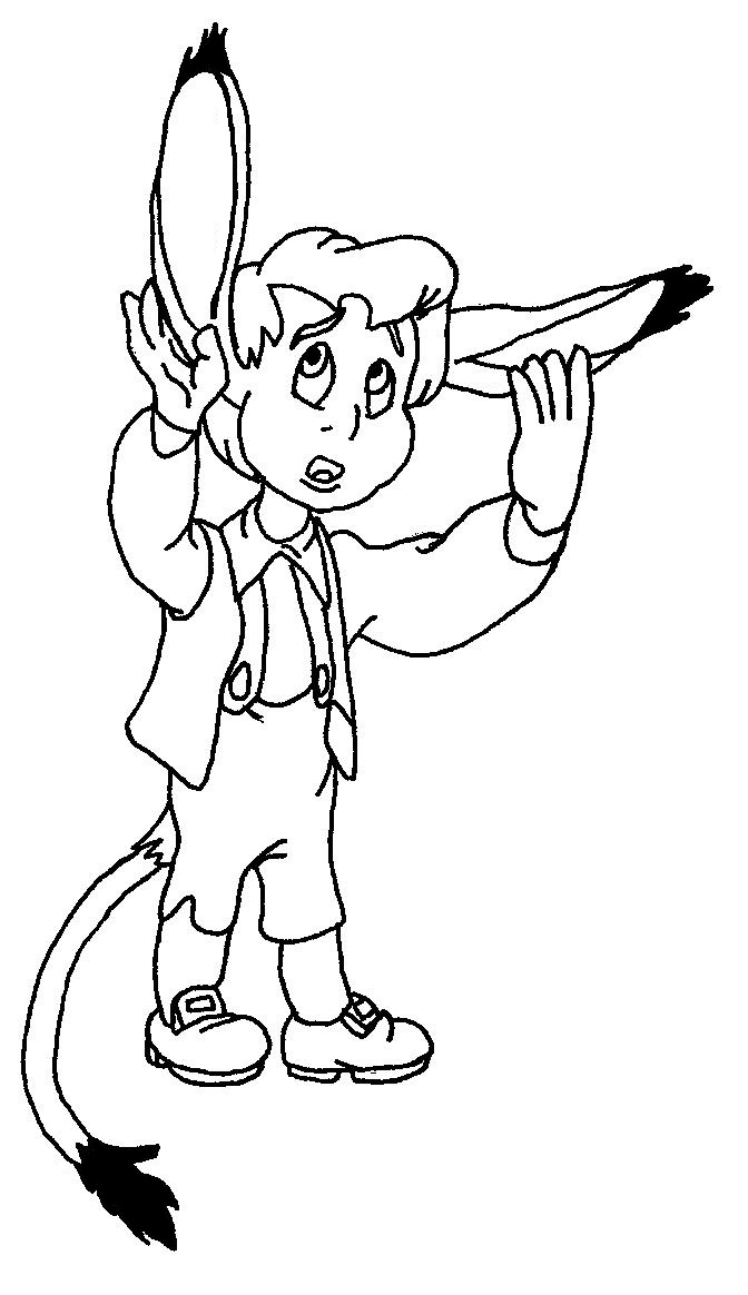 Pinocchio's friend, uncolored sketch by ReclusiveWriter